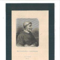 Arte: LITOGRAFÍA GASPAR Y ROIG EDITORES MADRID SIGLO XIX: EL CARDENAL CISNEROS. Lote 98484199