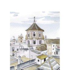 Arte: IMPRESIÓN DIGITAL (TIPO LITOGRAFÍA). -AZOTEAS DE SAN FRANCISCO CÁDIZ-. AUTOR: MIGUEL ALFARO. Lote 206750665
