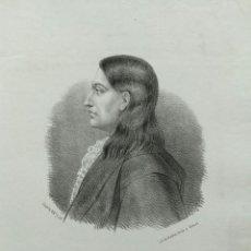 Arte: CLAUDIO COELLO, LITOGRAFÍA DE SANTIAGO LLANTA, 1866. CON PASPARTÚ. Lote 99481571
