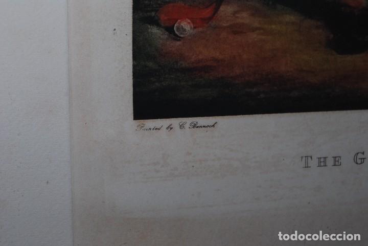 Arte: GRABADO - LITOGRAFÍA - C. BENNOCH IMPRESA DUNKES - THE GOLFER WITH HIS CADDIE - GOLF - CAOBA -C.1900 - Foto 3 - 99716463