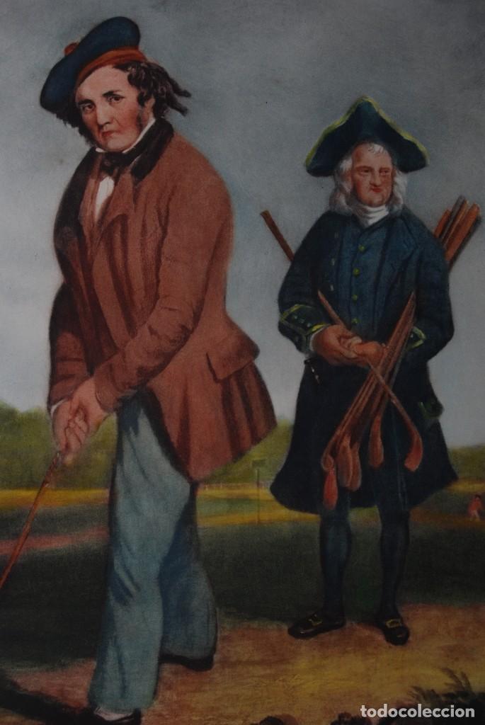 Arte: GRABADO - LITOGRAFÍA - C. BENNOCH IMPRESA DUNKES - THE GOLFER WITH HIS CADDIE - GOLF - CAOBA -C.1900 - Foto 6 - 99716463