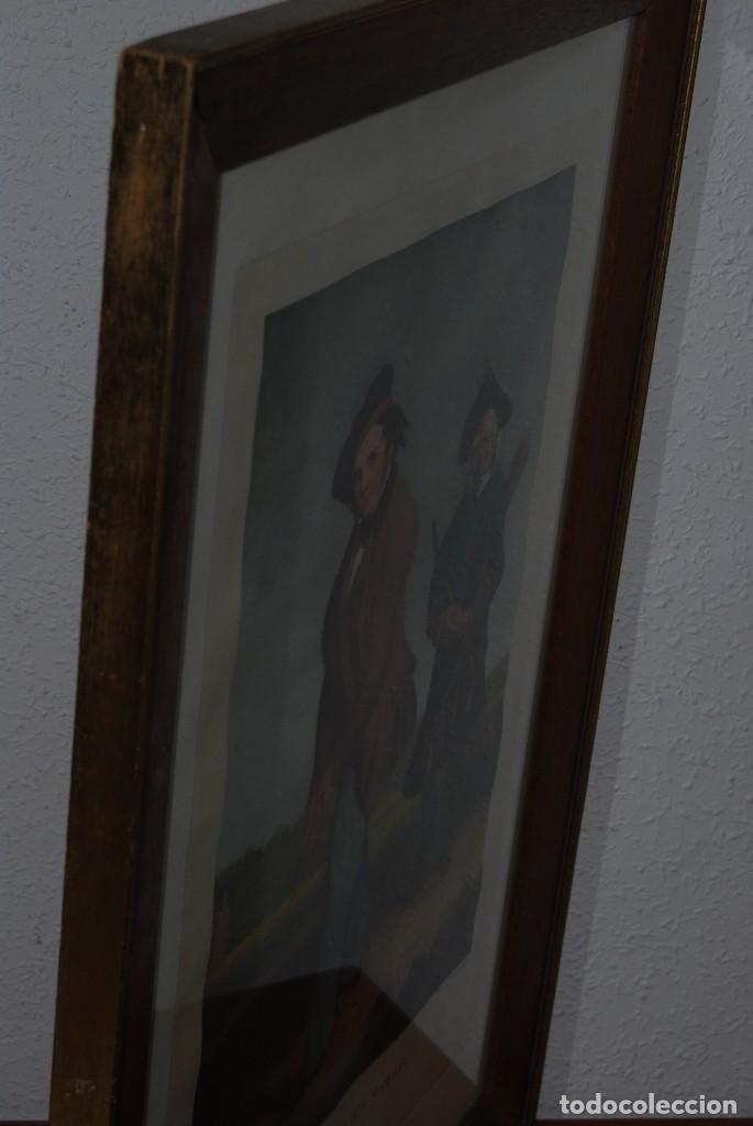Arte: GRABADO - LITOGRAFÍA - C. BENNOCH IMPRESA DUNKES - THE GOLFER WITH HIS CADDIE - GOLF - CAOBA -C.1900 - Foto 10 - 99716463