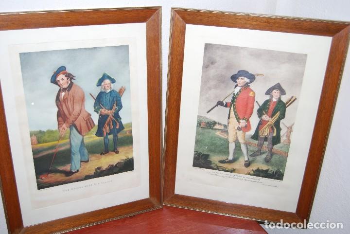 Arte: GRABADO - LITOGRAFÍA - C. BENNOCH IMPRESA DUNKES - THE GOLFER WITH HIS CADDIE - GOLF - CAOBA -C.1900 - Foto 13 - 99716463