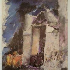 Arte: ARMANDO SERRA, LITOGRAFÍA CASA DE LES ROQUE. FIRMADO Y DEDICADO. Lote 164628477