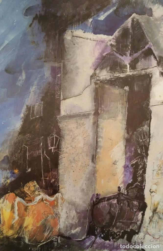 Arte: Armando Serra, litografía Casa de Les roque. Firmado y dedicado - Foto 2 - 164628477