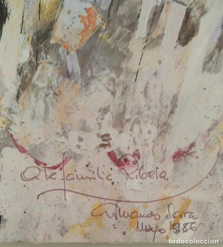 Arte: Armando Serra, litografía Casa de Les roque. Firmado y dedicado - Foto 3 - 164628477