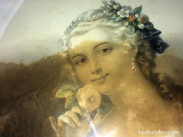 Arte: LA PETITE MARQUISE. LITOGRAFÍA A COLOR. IMPRESOR SCHAUS. NEW YORK. U.S.A. SIGLO XIX - Foto 2 - 101081055