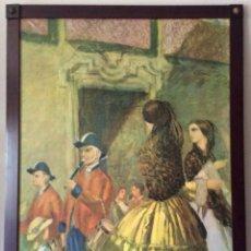Arte: MANUEL LOSADA ANTIGUA LITOGRAFIA A COLOR CON MARCO EN MADERA Y REMATES EN BRONCE DE GRAN TAMAÑO. Lote 102022839