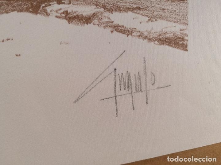 Arte: Litografìa , Obra exclusiva y limitada FIRMADA--DESCONOZCO AUTOR !!! AÑOS 80 - Foto 6 - 102227815