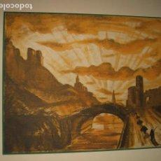 Arte: GERONA GIRONA VISTA LITOGRAFIA 1932 SERGE ROVINSKY . Lote 102779831