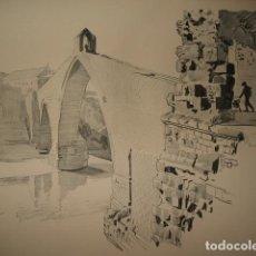 Arte: MARTORELL BARCELONA PUENTE DEL DIABLO LITOGRAFIA 1915 ASPIAZU ILUSTRADOR 24 X 31 CMTS. Lote 103032515