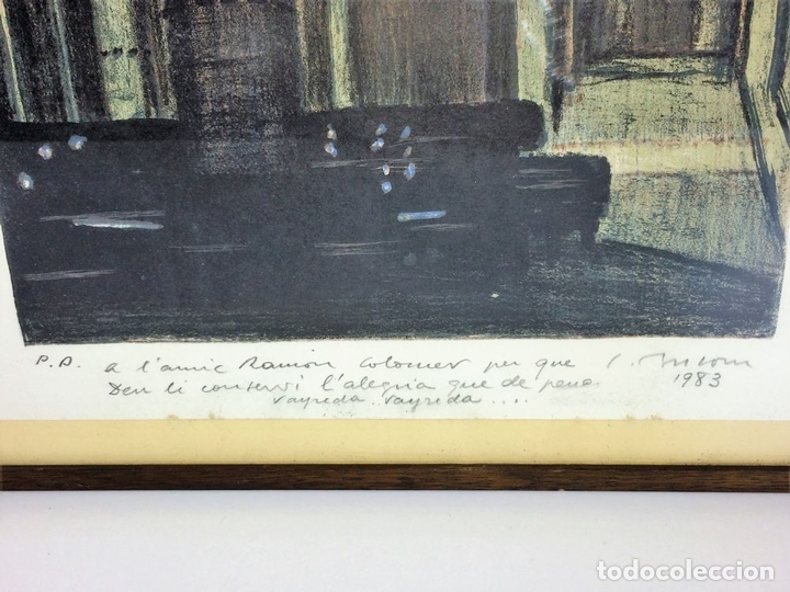 Arte: INTERIOR DE CATEDRAL. LITOGRAFÍA A COLOR. PRUEBA DE ARTISTA. SIMO BUSSOM. ESPAÑA 1983 - Foto 3 - 103055743