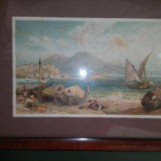 Arte: PEQUEÑA ACUARELA DE COSTA. Lote 103098495