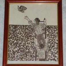 Arte: LITOGRAFIA HOMBRES EN MURO ANTONIO ZARCO FIRMADA Y NUMERADA LAPIZ 29/150 AÑO 1973. Lote 103630611