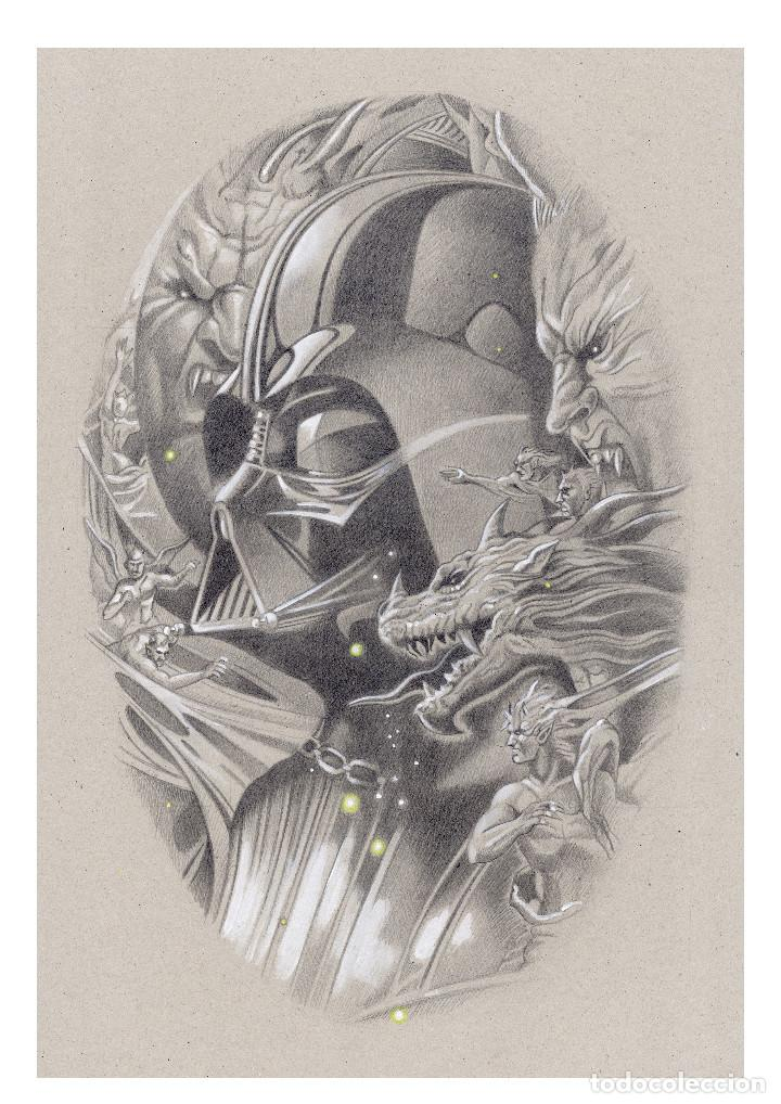 LITOGRAFÍA EDICIÓN LUJO -VADER IN THE DARK- (STAR WARS). AUTOR: MIGUEL ALFARO (Arte - Litografías)