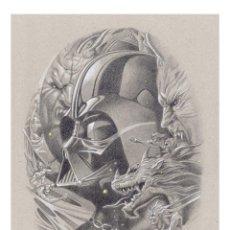 Arte: LITOGRAFÍA EDICIÓN LUJO -VADER IN THE DARK- (STAR WARS). AUTOR: MIGUEL ALFARO. Lote 159457818