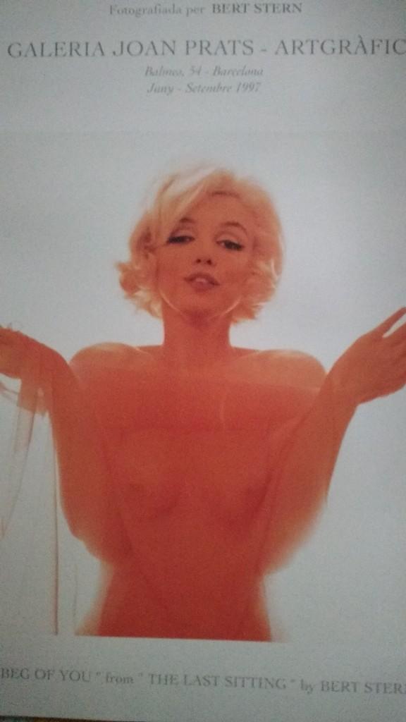 Arte: Bert Stern, cartel original de la exposición de Marilyn de 1997. - Foto 4 - 198631740