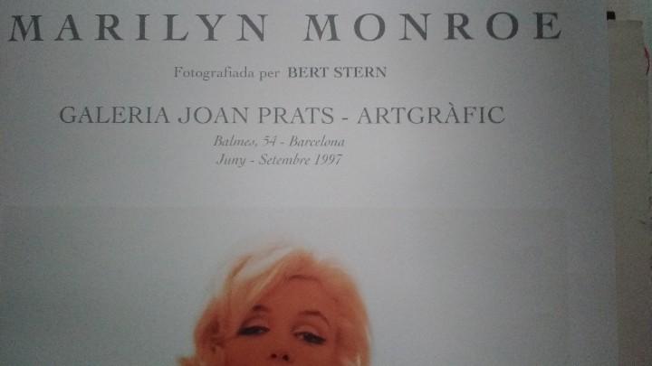 Arte: Bert Stern, cartel original de la exposición de Marilyn de 1997. - Foto 7 - 198631740