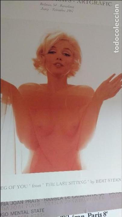 Arte: Bert Stern, cartel original de la exposición de Marilyn de 1997. - Foto 3 - 198631740