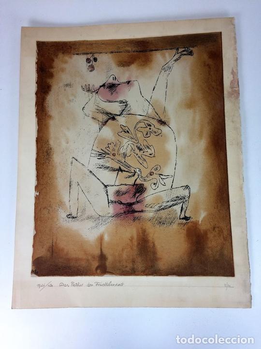 Arte: DAS PATHOS DER FRUCHTBARKEIT. LITOGRAFÍA A COLOR. 72-200. PAUL KLEE. SUIZA. 1921 - Foto 2 - 103936275