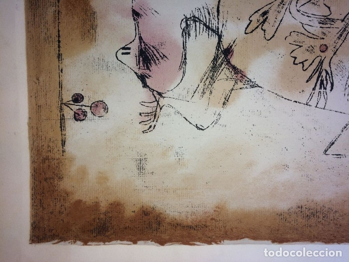 Arte: DAS PATHOS DER FRUCHTBARKEIT. LITOGRAFÍA A COLOR. 72-200. PAUL KLEE. SUIZA. 1921 - Foto 3 - 103936275