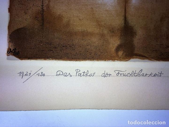 Arte: DAS PATHOS DER FRUCHTBARKEIT. LITOGRAFÍA A COLOR. 72-200. PAUL KLEE. SUIZA. 1921 - Foto 8 - 103936275
