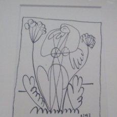 Arte: BONITA LITOGRAFIA DE PICASSO EDICION LIMITADA A SOLO 1600 PIEZAS Y ENMARCADA EN MARCO NEGRO. Lote 104024779
