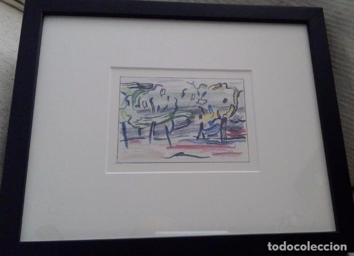 Arte: CURIOSA LITOGRAFIA ROY LICHTENSTEIN CAMINO AL BOSQUE ENMARCADA Y DE EDICION LIMITADA A 1200 UND - Foto 2 - 104026111