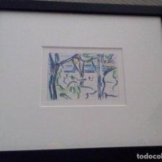 Arte: CURIOSA LITOGRAFIA ROY LICHTENSTEIN PAISAJE CON FIGURAS ENMARCADA Y DE EDICION LIMITADA A 1200 UND. Lote 104026447