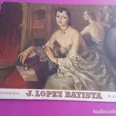 Arte: MUY BONITA LITOGRAFIA / JOSE LOPEZ BATISTA EN CARTON SOBRE OBRA DE FRANCISCO RIBERA. Lote 104062135
