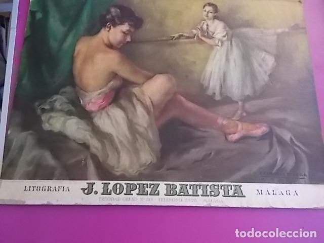 MUY BONITA LITOGRAFIA / JOSE LOPEZ BATISTA EN CARTON (Arte - Litografías)