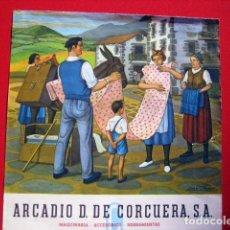Arte: ANTIGUO CALENDARIO ILUSTRADO JOSE ARRUÉ. 1978 ARCAIDO D. DE CORCUERA, S.A. MAQUINA - HERRAMIENTA. Lote 104087939