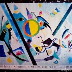 Arte: LAMINA DE - WASSILY KANDINSKY - COMPOSITION Nº 238 BRIGHT CIRCLE - TALE UNIVERSITY ART GALERY 92X62. Lote 104820755