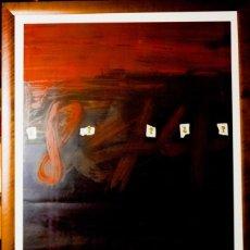 Arte: ANTONI TÀPIES - CARTES PER A LA TERESA LITOGRAFÍA - EDICIÓN 150 EX. - FIRMADO ENMARCADO - 1974. Lote 105269779