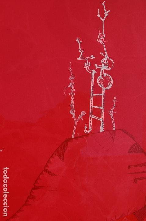 Arte: Joan Ponc (Barcelona 1927- Francia 1984). Litografía1977.56x76 firmado lápiz HC. Enmarcada perfecta. - Foto 2 - 105655499