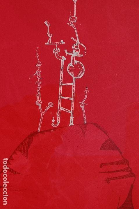 Arte: Joan Ponc (Barcelona 1927- Francia 1984). Litografía1977.56x76 firmado lápiz HC. Enmarcada perfecta. - Foto 3 - 105655499