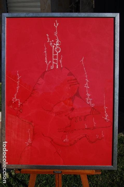 Arte: Joan Ponc (Barcelona 1927- Francia 1984). Litografía1977.56x76 firmado lápiz HC. Enmarcada perfecta. - Foto 8 - 105655499