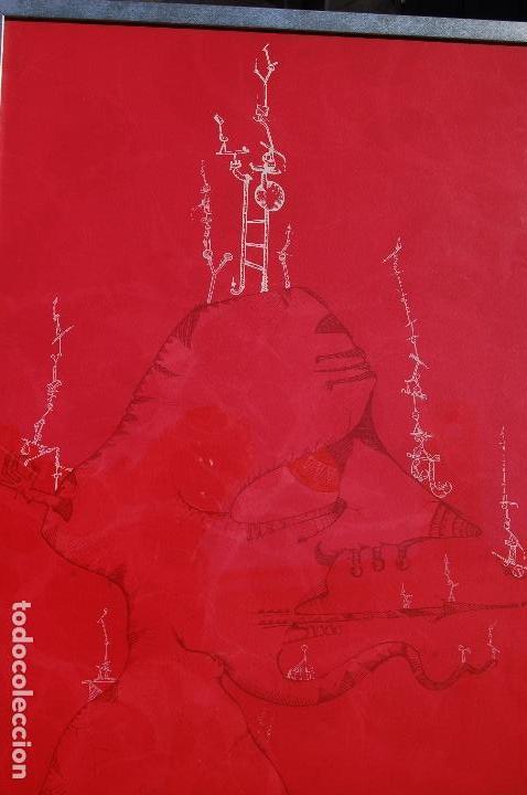 JOAN PONC (BARCELONA 1927- FRANCIA 1984). LITOGRAFÍA1977.56X76 FIRMADO LÁPIZ HC. ENMARCADA PERFECTA. (Arte - Litografías)