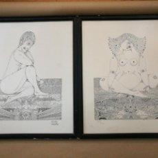 Arte: 2 LITOGRAFÍAS DE MESTRE SOBRE CARTULINA FIRMADOS , FECHADOS ( 1979 - 1980 ) Y NUMERADOS A LAPIZ .. Lote 105836087