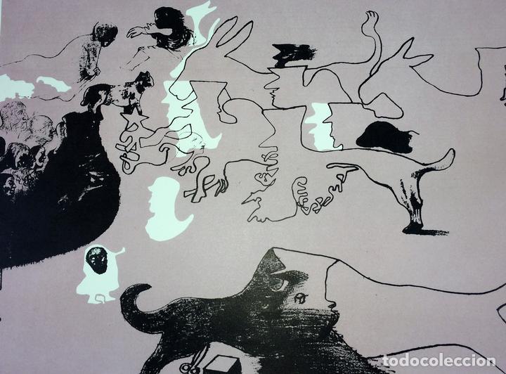 PAREJA DE LITOGRAFÍAS SOBRE PAPEL. FIRMADO CASTILLO. ESPAÑA. 1966 (Arte - Litografías)