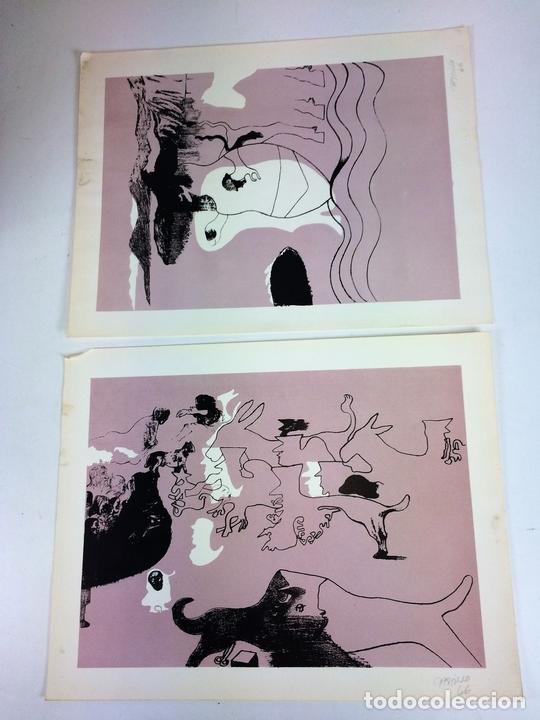 Arte: PAREJA DE LITOGRAFÍAS SOBRE PAPEL. FIRMADO CASTILLO. ESPAÑA. 1966 - Foto 2 - 105899331