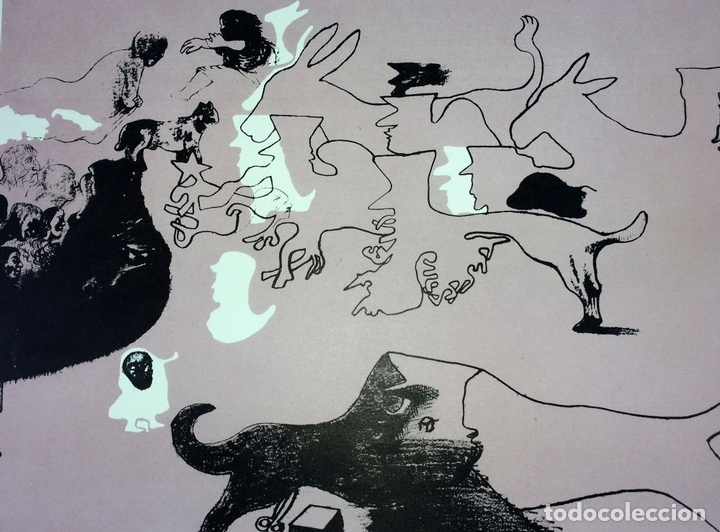Arte: PAREJA DE LITOGRAFÍAS SOBRE PAPEL. FIRMADO CASTILLO. ESPAÑA. 1966 - Foto 3 - 105899331