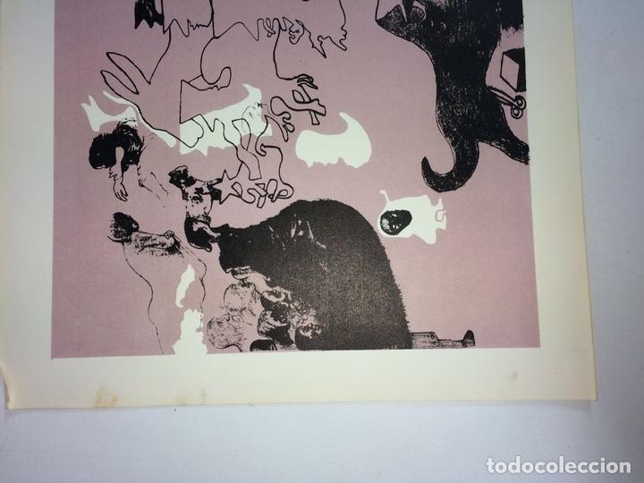 Arte: PAREJA DE LITOGRAFÍAS SOBRE PAPEL. FIRMADO CASTILLO. ESPAÑA. 1966 - Foto 5 - 105899331