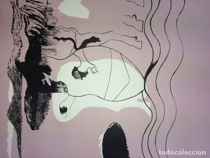 Arte: PAREJA DE LITOGRAFÍAS SOBRE PAPEL. FIRMADO CASTILLO. ESPAÑA. 1966 - Foto 8 - 105899331