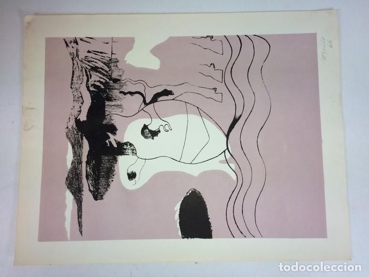 Arte: PAREJA DE LITOGRAFÍAS SOBRE PAPEL. FIRMADO CASTILLO. ESPAÑA. 1966 - Foto 9 - 105899331
