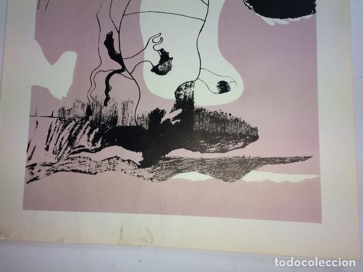 Arte: PAREJA DE LITOGRAFÍAS SOBRE PAPEL. FIRMADO CASTILLO. ESPAÑA. 1966 - Foto 11 - 105899331