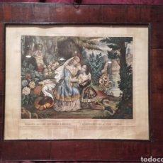 Arte: MAZEPPA DECLARA SU AMOR A TERESA. ANTIGUA LITOGRAFÍA FRANCESA CIRCA 1840.. Lote 105929334