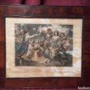Arte: EL CONDE PALATINO HACE PRENDER MAZEPPA. ANTIGUA LITOGRAFÍA FRANCESA CIRCA 1840.. Lote 105930603