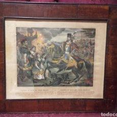 Arte: MAZEPPA SE VENGA DEL CONDE PALATINO. ANTIGUA LITOGRAFÍA FRANCESA CIRCA 1840.. Lote 105932968