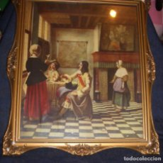 Art: CUADRO VINTAGE PIETER DE HOOCH. 1658. Lote 105947215